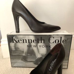 "Kenneth Cole Brown leather ""Skyscraper"" heels"